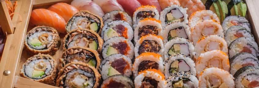 A sushi set